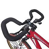 NANANA Bicicleta Manillar de Mariposa con/Sin Esponja Grips para Bicicleta de Montaña, Bicicleta de Carretera, Racing Puños para Manillar de Bicicleta(25.4X580 Mm),Withspongecover