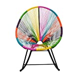 Design Tree Home Acapulco Indoor/Outdoor Rocking Chair, Multi-Color