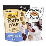 Purina Friskies Party Mix Cat Treats; Naturals Gourmet Crunch - 170 g Pouch