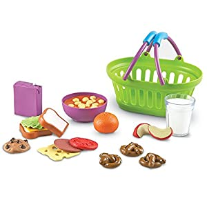 learning resources new sprouts lunch basket, pretend play food, 18 piece set, ages 18 mos+ - 51iDZrCfuBL - Learning Resources New Sprouts Lunch Basket, Pretend Play Food, 18 Piece Set, Ages 18 mos+