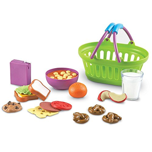 Learning Resources New Sprouts Lunch Basket, Pretend Play Food, 18 Piece Set, Ages 18 mos+