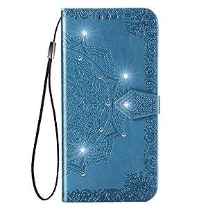 Docrax Huawei [Mate 10 Lite] Handyhülle, Hülle Leder Case mit Standfunktion Magnetverschluss Flipcase Klapphülle kompatibel mit Huawei Mate10 Lite – DOSDA050624 Blau