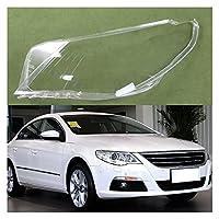 ヘッドライトカバーシェルレンズ カバー ために VW ために パサートCC 2009 2010 2011 2012 透明プレキシガラスランプシェードシェルヘッドランプランプシェード ヘッドライトレンズランプカバー (色 : 1ピース右側)