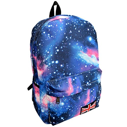 Galaxy Backpack School Backpack College Bags Fashion Travel Laptop Rucksack Daypack for Teen Boys and Girls (16.5311.412.36 Inch, Blue)