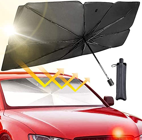 Parasol para Coche, Sombrilla de Coche, Plegable, con Función Anti-UV, Parasol Polivalente....