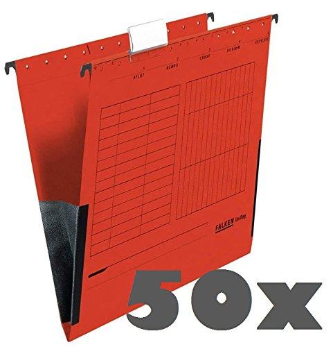2x 25 FALKEN Hängetaschen UNIREG / rot / DIN A4 / 230 g/m²