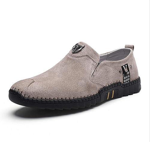 Herrenschuhe Herren Wild Casual Schuhe Pure Farbe Business-Schuh Leichte Fahr Slipper & Slip-OneLoafers Rutschfestes Kleid
