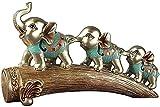 Scultura,Resina Elefantes Estatua Estatuilla De Animales Oficina...
