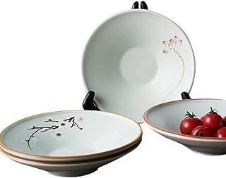 Juego de taza de caf/é y plato de porcelana china de hueso para t/é y leche de color blanco YOSOU HOME