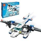 TRCS Juego de 174 piezas de construcción de policía de ciudad con minifigura para policía SWAT compatible con Lego