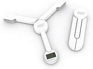 Joseph Joseph 40071 TriScale Compact Folding Digital Kitchen Food Scale, White