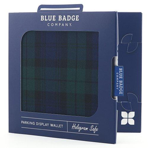 Blue Badge Company TRT-BGSP-6073 - Funda para tarjetas de aparcamiento para discapacitados, diseño de cuadros