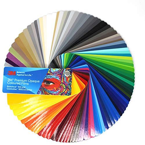 Farbfächer 3M Wrap Film 1080/1380 Di-Noc 8900 580E 80 100/983/180 Folie Autofolie Werbung (Farbfächer 3M 100 / Controltac 180)