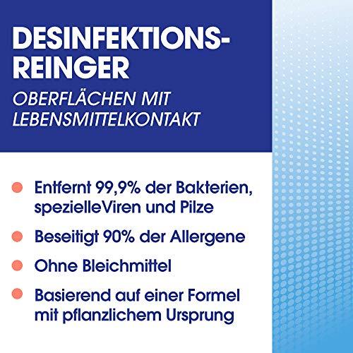Sagrotan Desinfektions-Reiniger – Desinfektionsmittel für die tägliche, sanfte Reinigung – 1 x 500 ml Sprühflasche mit neuem Sprühkopf im Vorteilspack - 5