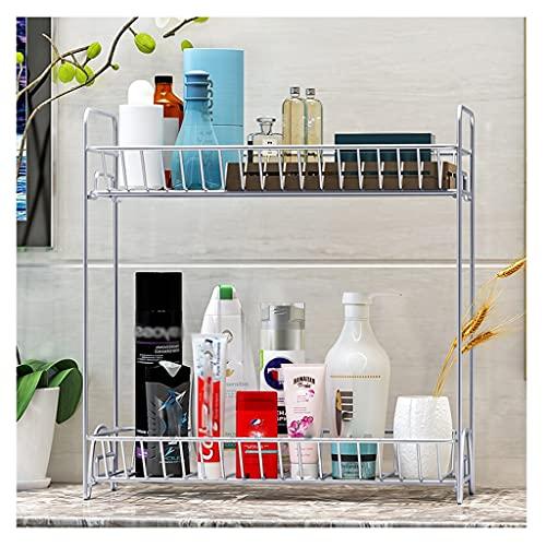 XGJJ Estantes Estante Cocina Baño Almacenamiento Rack Baño Metal Encimera Condimado Rack Botella de Rack Can Encimitop Almacenamiento Estante Simple Soportes