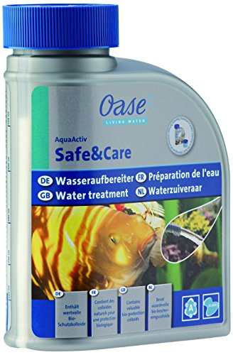 Oase 43151 AquaActiv Safe&Care Wasseraufbereiter fischgerecht für Teiche 500 ml - schnell wirksamer Aufbereiter für Füllwasser mit Bio Schleimhautschutz ideal für Fischteich Koiteich Gartenteich
