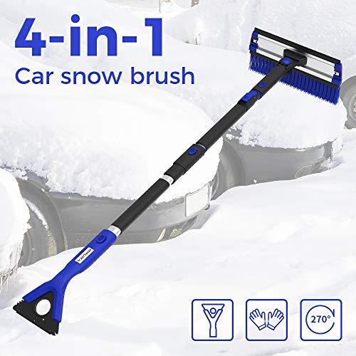 4-in-1 Erweiterbar Schnee Schaufel EIS Schaber Schnee Pinsel Wasser Entferner Für Auto Auto SUV Frost Windschutzscheibe Reiniger Winter Werkzeug