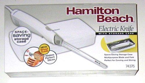 Hamilton Beach Electric Knife with Storage Case, White