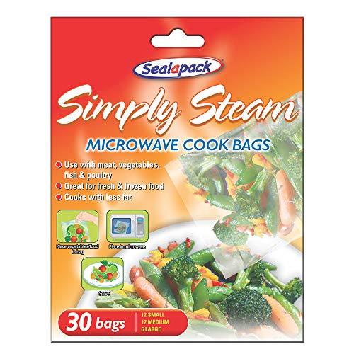 30x Stück Mikrowelle Dampfbeutel für Gemüse, Fleisch, Fisch, Geflügel