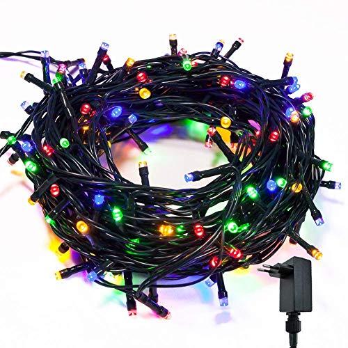 takestop 300 LED LUCI Multicolor RGB Colorata 091/151 Filo Verde Albero di Natale Catena Luminosa Controller 8 FUNZIONI MINILUCCIOLE LAMPADINE LUCCIOLE da Esterno IP44 Impermeabile