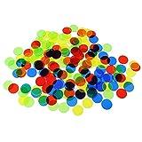 TOYANDONA - 200 fichas de Bingo de plástico para carnaval, 15 mm (Color aleatorio)