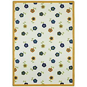 Joy Carpets Kid Essentials Infants & Toddlers Awesome Blossom Rug, Bold, 10'9″ x 13'2″