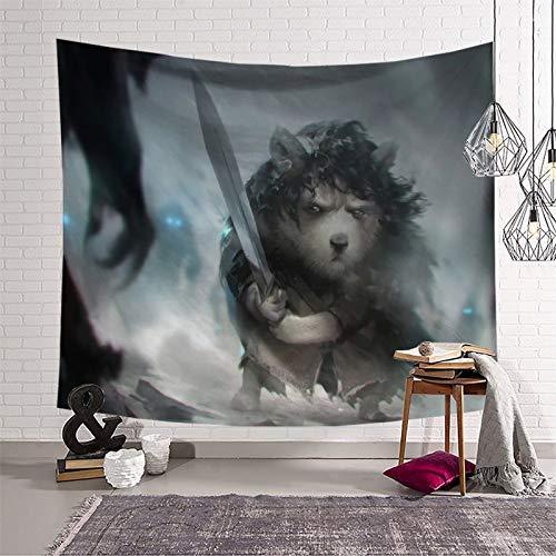 Tapiz para colgar en la pared para dormitorio Juego de Tronos, una criatura con una espada, decoración moderna del hogar 230 x 180 cm