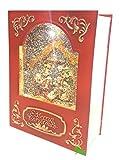 Carillon NATIVITà Natale Brillantinato a Forma di Libro Gesù Giuseppe Maria Re Magi Marry Christmas con Luce e Musica Natalizia 21 x 16 x 7 cm