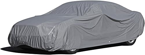 wholesale OxGord discount Executive Storm-Proof Car Cover - Water Resistant 7 Layers -Developed 2021 for Any All Conditions - Ready-Fit Semi Glove Fit - Fits up to 216 Inches sale