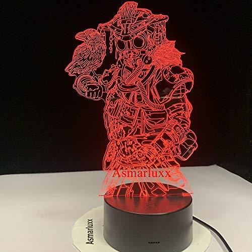 Ehemaliger Sklave Apexx Legends Bloodhound Technological Tracker Game Hunters 3D Nachtlicht LED 7 Farben USB Decor Illusion als Geschenk