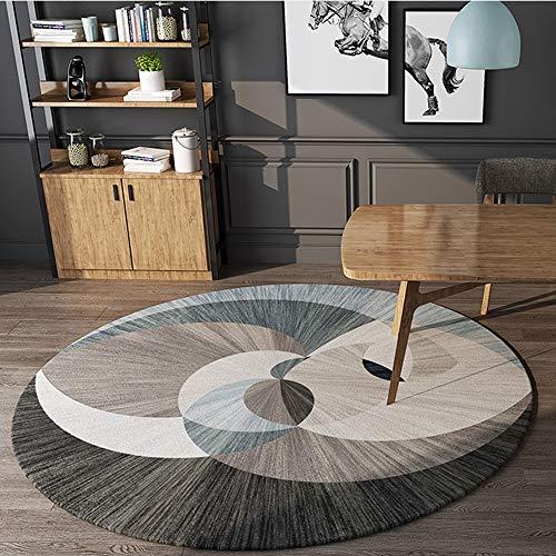 SWNN Carpet Nordic Modernen Minimalistischen Runden Bequemen Teppich Verdickung Computer Stuhl Drehstuhl Korb Matten Rutschig Weichen Wohnzimmer Schlafzimmer Studie Teppich (Size : 140)
