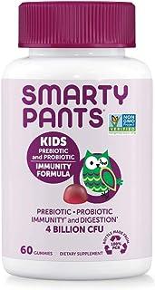 SmartyPants Kids Probiotic Complete Daily Gummy Vitamins; Probiotics & Prebiotics; Gluten Free, Digestive & Immune Suppor...