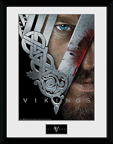 1art1® Vikingos - Keyart Póster De Colección Enmarcado (40 x 30cm)