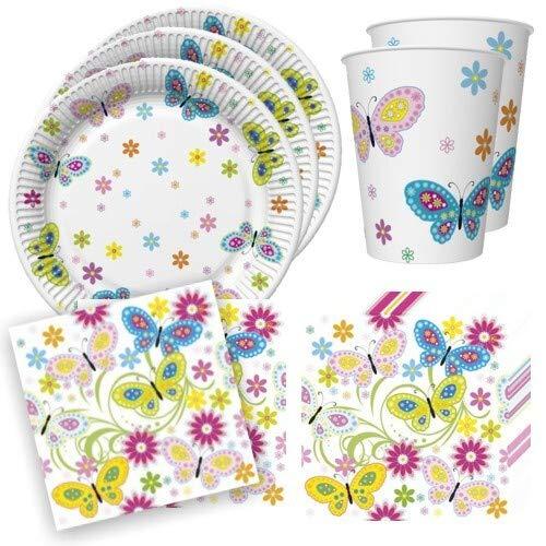 Juego de 36 piezas de decoración de mesa con flores y mariposas...
