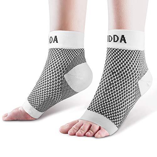 AVIDDA Plantar Fasciitis Sokken met hakken Arch Supports, Compressie Mouwen Ideaal voor Artritis Pijn Verlichting en Geschikt voor Sport, Enkel Ondersteunt voor Mannen en Vrouwen Wit-1-S