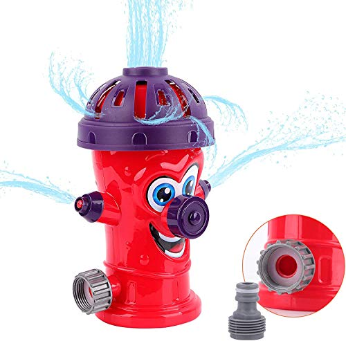 Fire Hydrant Sprinkler Toys Outdoor Water Spray Sprinkler for Kids,Cute Hydrant Shape Spray Sprinkler for Backyard,Sprays Up to 8ft High - Attaches to Garden Hose