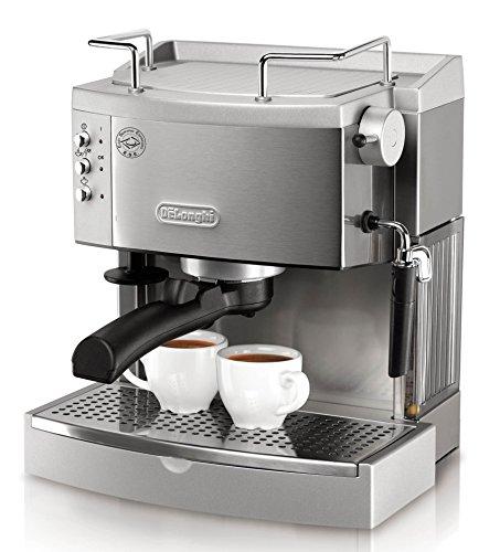 DeLonghi EC702 15-Bar-Pump Espresso Maker, Stainless...