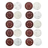 100 Pcs Sanding Discs 5 Inch 8 Holes Sander Paper 40, 60, 80, 100, 150, 180, 240, 320, 400, 800 Grits Hook and Loop Sandpaper for Random Orbital Sander