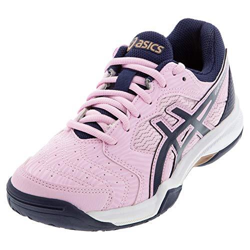 ASICS Women's Gel-Dedicate 6 Tennis Shoes (Cotton Candy/Peacoat, 7)