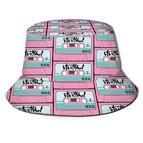 KOn! Cassette Design - Sombrero de pescador para verano, diseño de casete para hombre y mujer, para viajes, playa