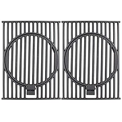 Hongso 17 1/4 Inches Cast Iron Cooking Grill Grid Grates for Stok SGP4330SB, SGP4032N, SGP4130N, SGP4330, Nexgrill 720-0830H, 720-0888N, 720-0888, Charbroil 463241113 Gas Grill Models, 2 Pack, PCD332