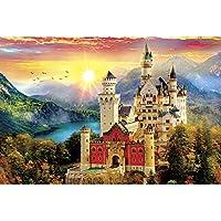 クロスステッチキットダイヤモンドペインティングダイヤモンドペインティングダイヤモンドアートフルペーストアート5Dモザイクアート手作りDIYクラフトキット40x50cm-山の城