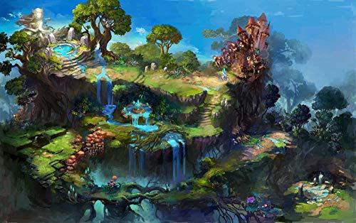 Xtimi Spielzeugladen - 1000 Teile Erwachsenenpuzzle 3D 8 Jahre Altes Kinder Mädchen Junge Landschaft Spielzeug Beautiful Dekoration Geschenke - Animierte Schlosslandschaft