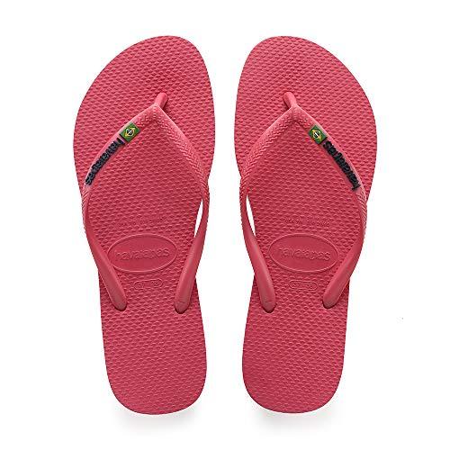Havaianas Damen Slim Brasil Logo Zehentrenner, Pink (Flamingo), 33/34 EU