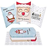 Cajas de Regalo Navidad, 30 Piezas Caja de Papel Dulces Cajitas para Galletas para Decoración Regalo Árboles de Navideña