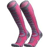 WEIERYA Ski Socks 2 Pairs Pack for Skiing, Snowboarding, Cold Weather,...