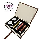 Mogoko Sigillo + 3*Ceralacca + Cera + Cera Stick Spoon Francobolli Vintage Kit per Lettera Personalizzata Timbri Personali IL MIGLIORE REGALO SET-Ape