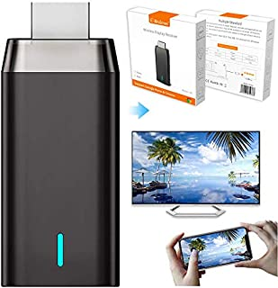 Wireless Display Adapter Dongle, 5G/2.4G HDMI Display Adapter Receiver, 4K& Dual Band&1080P Wireless WiFi Adapter Miracast...