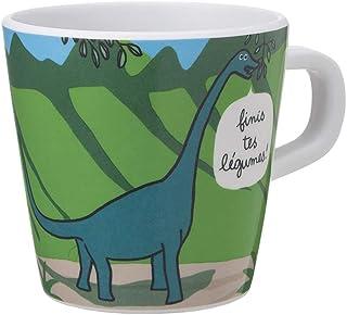 Les Dinos Petit Jour Paris DI913BL kaffemugg, brontosaurus och ptérodactyle, perfekt för små tillfällen, grön