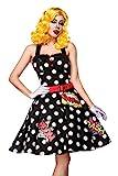 Atixo Pop Art Girl Kostümset - schwarz/weiß/rot, Größe Atixo:L